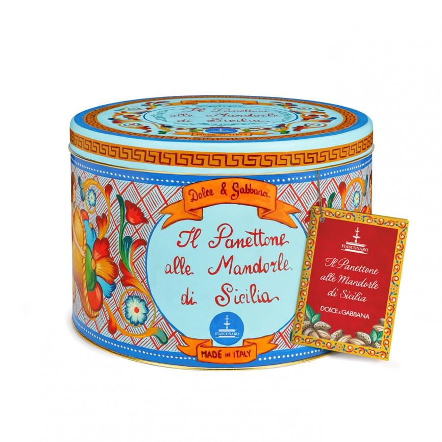 Panettone Dolce&Gabbana con Mandorle di Sicilia