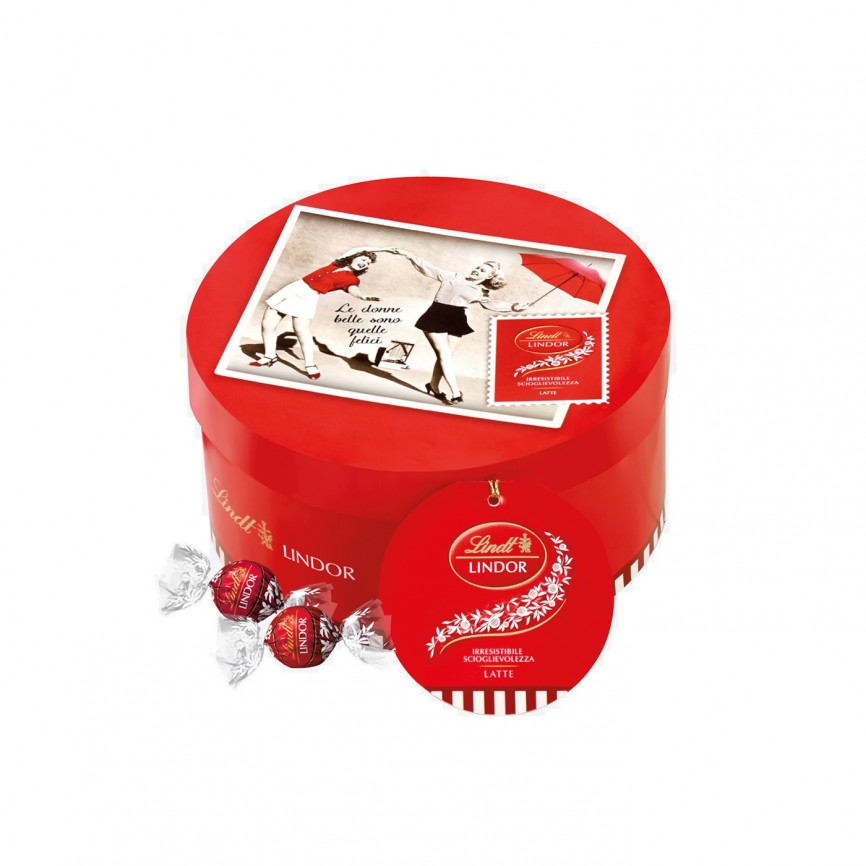 Scatola Tonda Red Touch Lindor