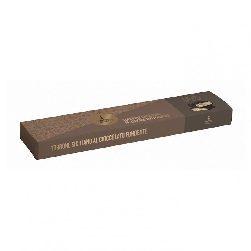 Torrone Siciliano Cioccolato Fondente