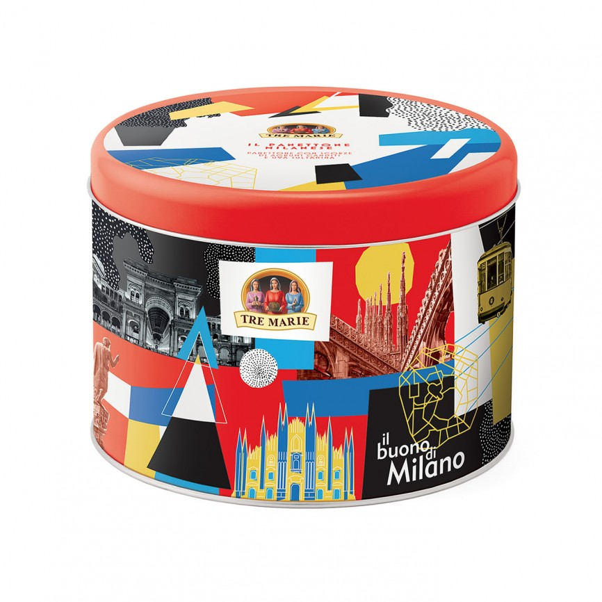 Panettone Milanese in Latta Pop Art